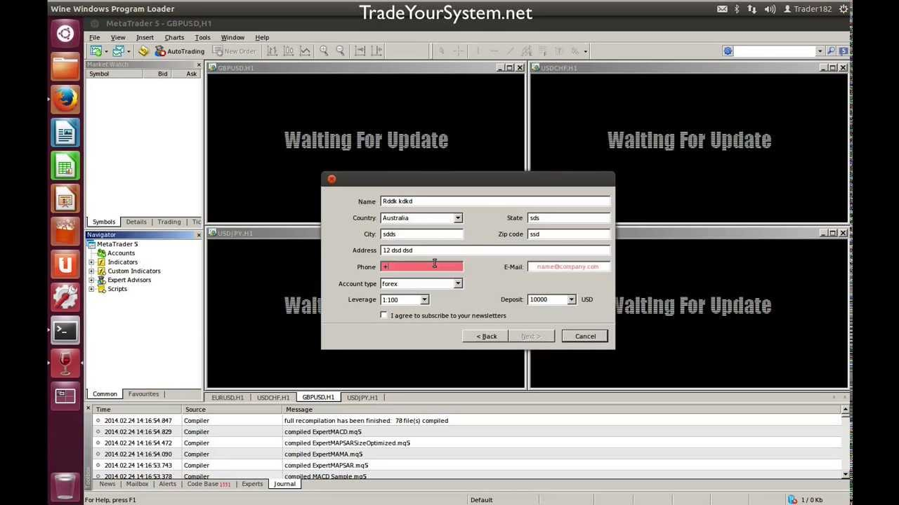 Trading forex linux