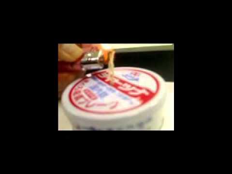 ツナ缶でオイルランプ作ってみた。