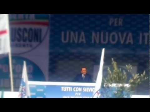 Piazza del Popolo 23 Marzo 2013, Silvio Berlusconi il Grande.