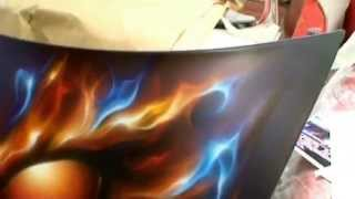 FLAME ON 1 - Airbrush - Custom paint -True Fire or Realistic Flames.