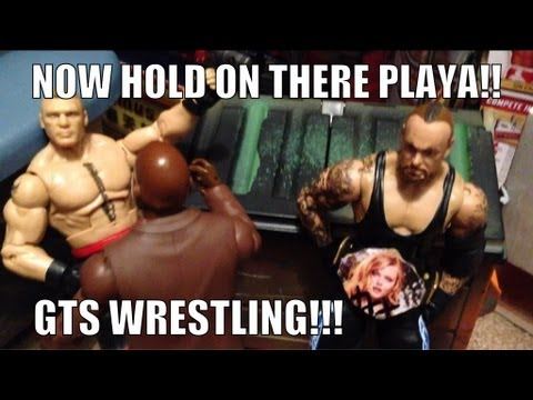 GTS WRESTLING: Chocolate Milk Match! WWE Raw parody figure matches mattel elites animation