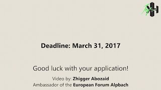 Application Process EFA17