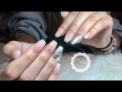 Mia Secret Cover Pink Acrylic Babyboomer Nails