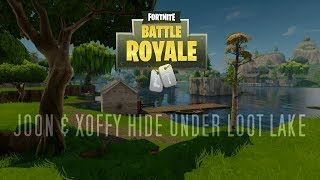 Hiding Under Loot Lake with Joon - Fortnite BR Funny Highlight