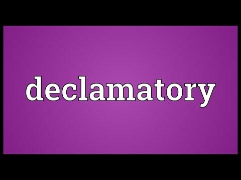 Header of declamatory