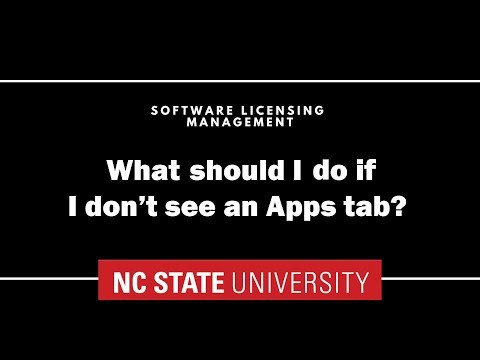 What should I do if I don't see an Apps tab?