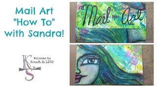 Mail Art How To with Sandra - Kraaft It LIVE!