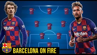 BARCELONA POSSIBLE STARTING LINEUP WITH NEYMAR