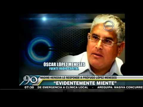 Nadine Heredia sobre López Meneses: