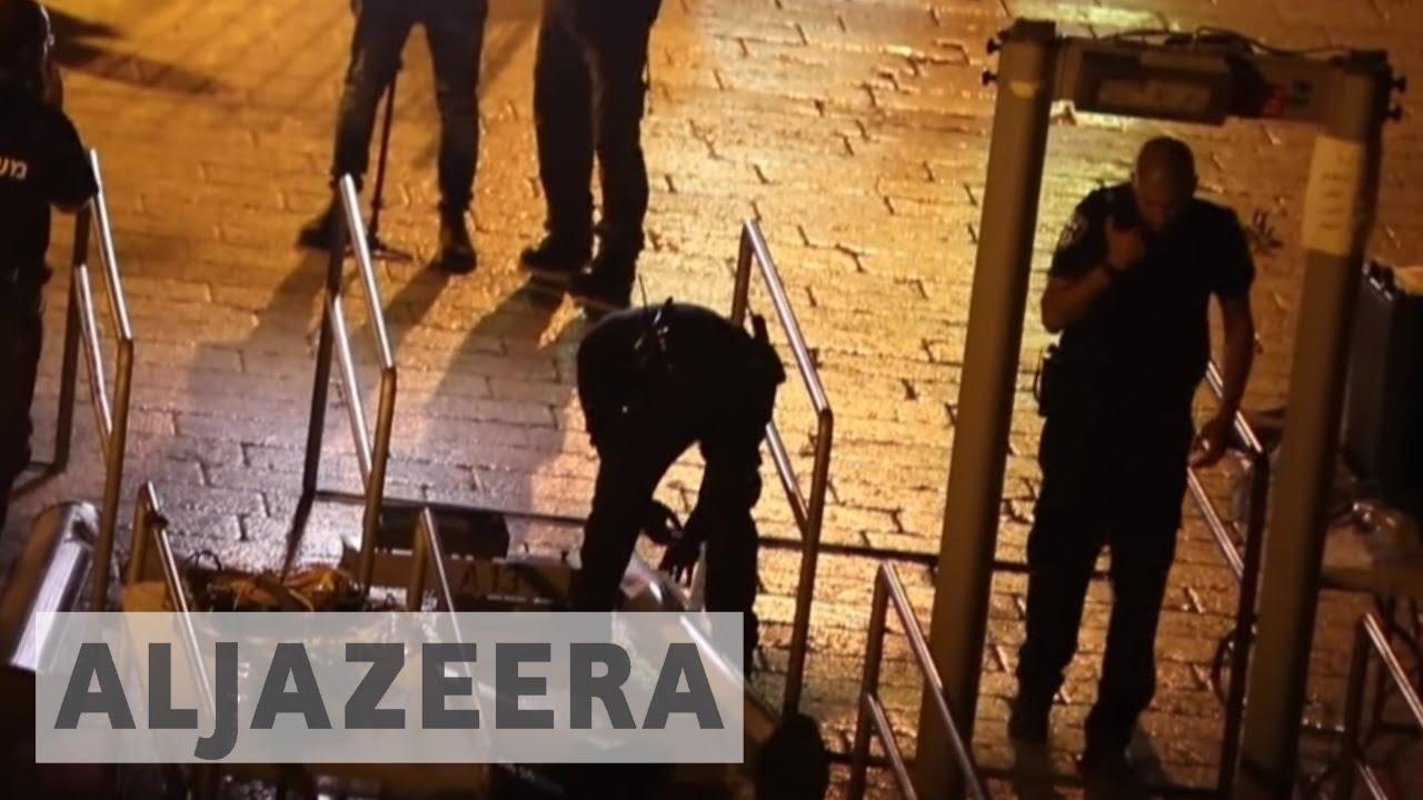 Israel removes metal detectors from al-Aqsa Mosque compound