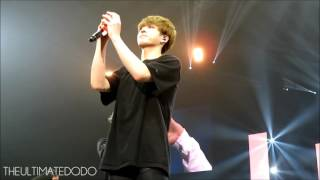 JUNGKOOK TOOK MY IRON MAN PLUSHIE - [FANCAM] 170324 Ending @ BTS The Wings Tour in Newark Day 2