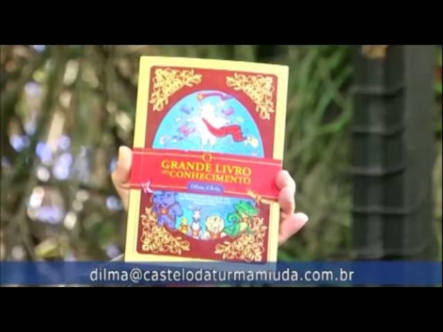 """Caio apresenta o livro """"O grande livro do conhecimento"""", de Dilma D'Avila."""