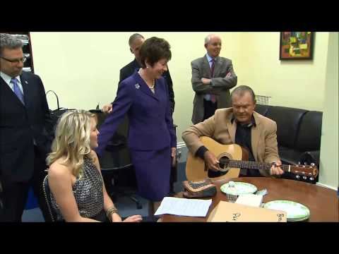 Senator Collins meets with country music legend Glen Campbell