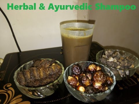 Homemade Herbal and Ayurvedic shampoo with Retha,Amla and Shikakai