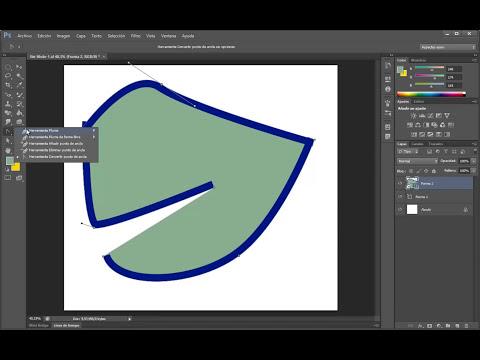 Photoshop CS6 Curso completo, Como usar y dibujar con la herramienta pluma, Capitulo NO-22