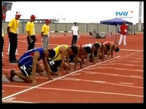 Atlhletics men's 100m Semifinal - SeaGames 2011