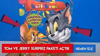 Lolliboni Tom ve Jerry Sürpriz Paket Açıyoruz - Sürpriz Paket Açılımı