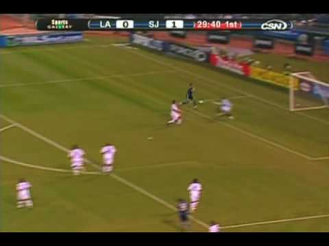 Los Angeles Galaxy at San Jose Earthquakes - Game Highlights 04/18/09 Video