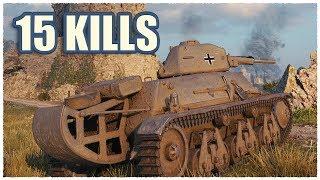 Mini Maus • Pz.Kpfw. 38H 735 • 15 KILLS • WoT Gameplay
