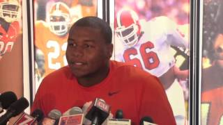 TigerNet.com - Dexter Lawrence glad he beat Wilkins to first sack