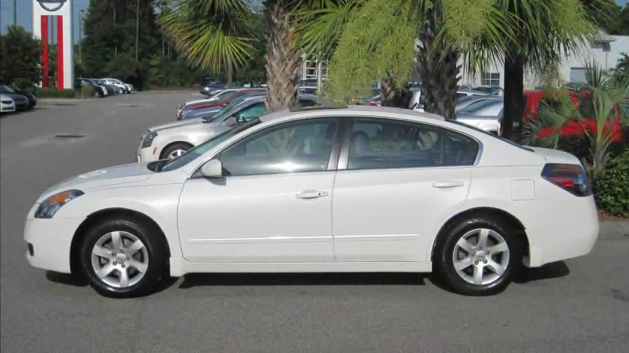 White 2008 Nissan Altima 2 5 Sl Sunroof Sporty 1 Owner
