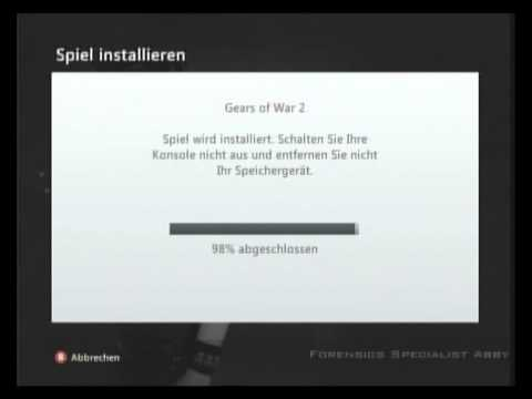 Spiele auf der Xbox360 auf die Festplatte installieren