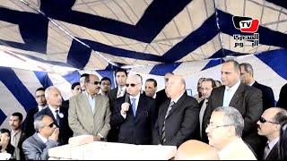 وزير التعليم العالي يضع حجر أساس المستشفى الجامعي ببورسعيد