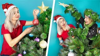 13 Christmas Sibling Pranks And Hacks! Sister VS Sister!