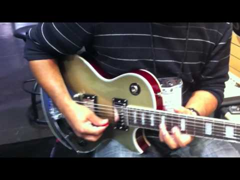 Prestige Heritage Deluxe and Musician guitar demo at NAMM 2011