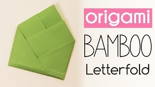 Easy Origami Bamboo Letter Fold Tutorial ♥︎ DIY ♥︎ Back To School ♥︎