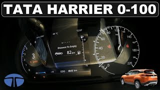 TATA HARRIER 0-100 Acceleration 100-0 Brake test   DriveIndia