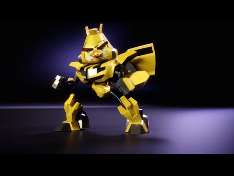 Angry Birds Transformers: Chuck as Bumblebee!
