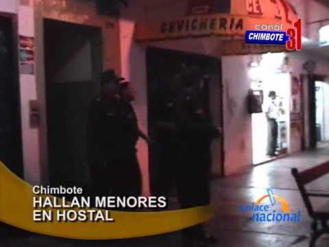 de Chimbote intervino a cinco menores de edad en el hostal