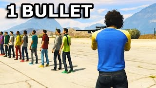 GTA V - How many people can you kill with 1 Bullet?