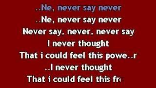 Justin Bieber - Never say never KARAOKE.avi