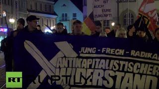 Germany: Nationalists march against refugees in Doebeln