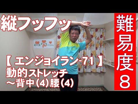 #71 『動的ストレッチ』背中(4)腰(4)縦フッフッ→難易度8