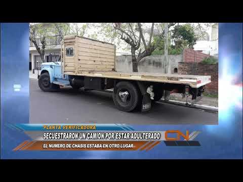 Un camión fue secuestrado por adulteración en su identificación de serie de chasis