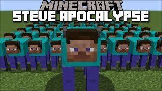 Minecraft TURNING EVERY MOB IN TO A STEVE !! STEVE MOD TURNS EVERYTHING MUTATED !! Minecraft