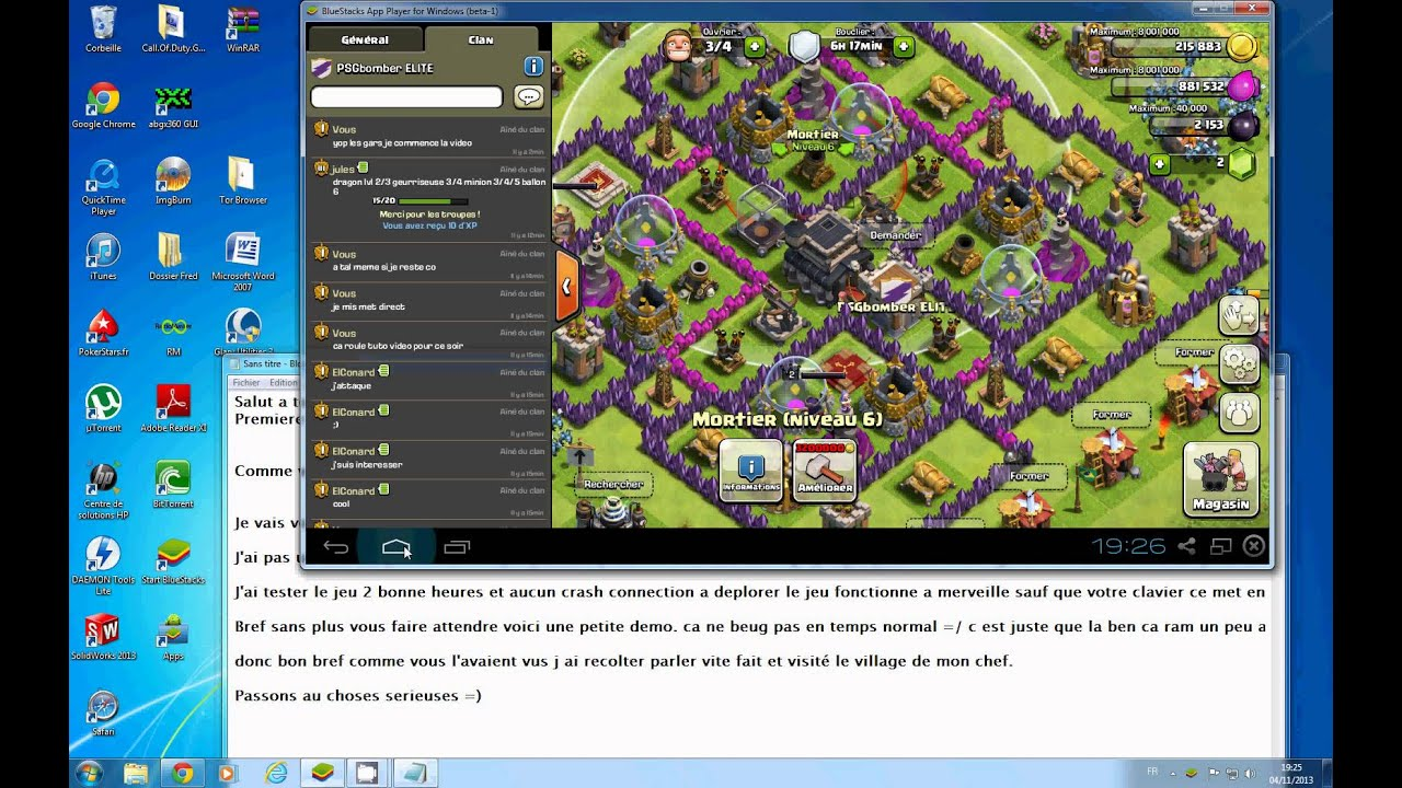 comment mettre clash of clan sur pc