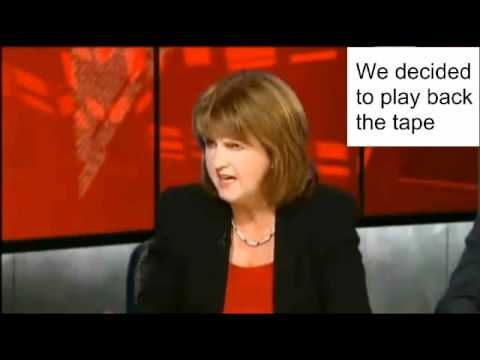 Vincent Browne featuring Joan Burton on what Eamon Gilmore said about budget cuts