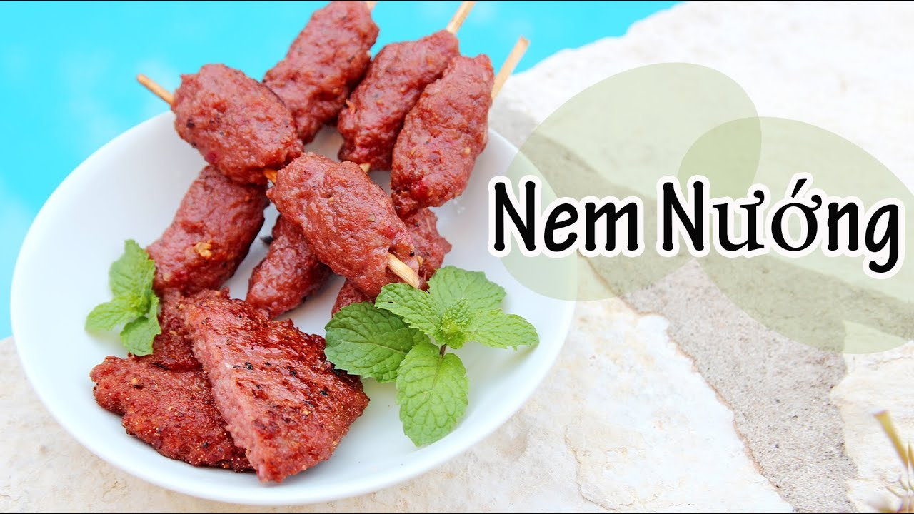 Cooking With Mom Nem Nuong Grilled Pork Sausages Patties