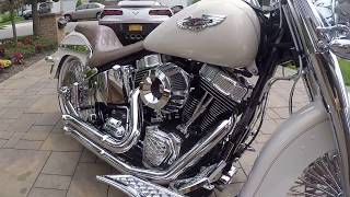 2014 Harley Davidson FLSTN Deluxe For Sale~Totally Customized w/ ONLY 900 MILES!