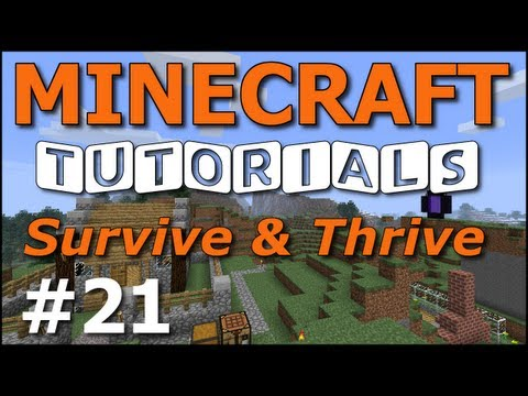 Minecraft Tutorials - E21 Home Defense: Perimeter Wall (Survive and Thrive II)