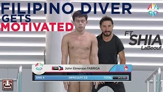 Filipino Diver Gets Motivated by Shia LaBeouf - 2015