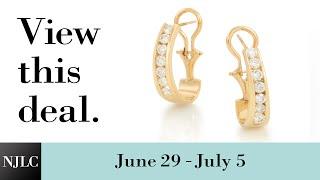 Deal of the Week: Yellow Gold Diamond Hoop Earrings