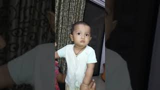 Funny child,नटखट बच्चा, pune, learning baby, creative baby, deva zinjad, laughing baby