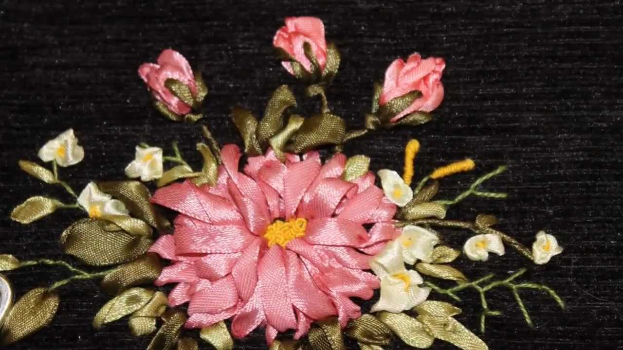 Белая лилия вышивка бисером