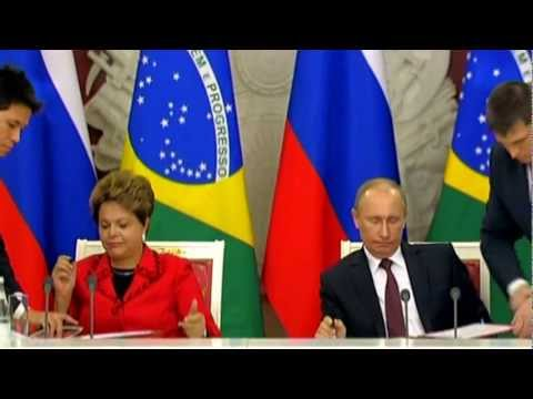 DILMA ROUSSEFF Meets with Russian President VLADIMIR PUTIN