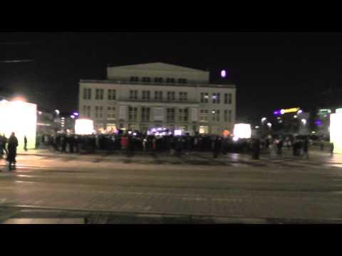 Legida am 21. 1. 2015 vor der Oper Leipzig